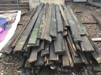 Timber pitch pine red roof boards.