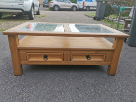 Open to offers!!! Wooden coffee table and matching TV stand