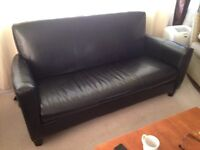 Black Pleather Couch