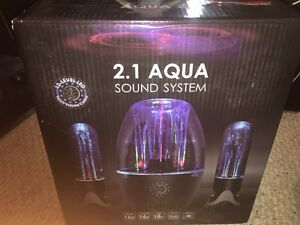 BNIB! 2.1 Aqua Sound system speakers
