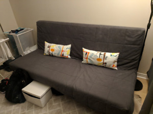 IKEA futon sofa that opens and becomes a double bed