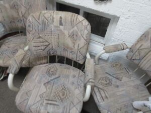 High Back Captain Swivel Chairs - Set of 4    $100.00