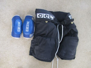 hockey equipment - pants, elbow pads - kids large