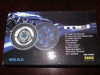 MD Sound 6.5' 3 Way Car Speakers Tweeter 500 Watt