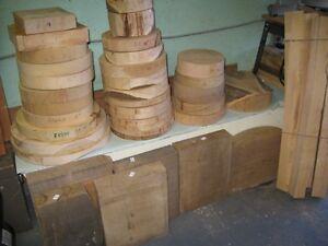 Bois préparé pour tour à bois