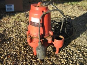 RED LION SUBMERSIBLE SEWAGE PUMP USED
