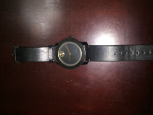 Movado men's watch model 3600297 genuine leather; good condition