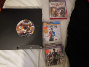 Ps3 consol with 1 controller and a few games