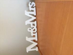 Mr & Mrs Tabletop Sign