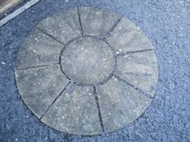 Stone circle garden decoration