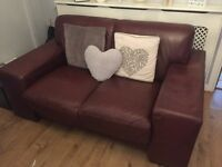 ITALIAN LEATHER SOFA 3 and 2 seater !