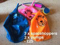 3 Spacehoppers Garden Kids Wedding
