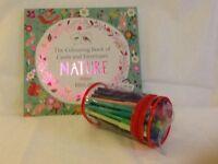 Colouring book, nature designs