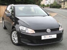Volkswagen GOLF S 1.6 TDI Mk7 5-door 105ps 2013 : Black : 62k mi : £0 Road Tax
