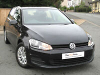 Volkswagen GOLF S 1.6 TDI Mk7 5-door 105ps 2013 : Black : 62k mi : £0 Road Tax