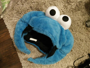 Cookie monster plush head - adult costume