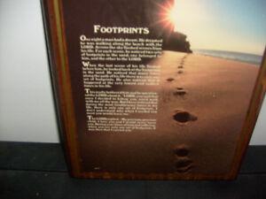 Footprints Wall Plaque
