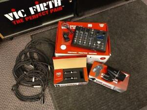 Sabian DRUM MICROPHONES & MIXER SOUND KIT - used - usagé