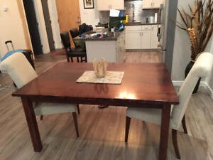 Dark Cherry dinette and two large dining chairs