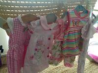 Baby girl 3-6m dress & romper bundle