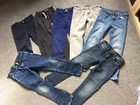 Boys jean and jogging bottom Bundle x 7 - 8-9 years