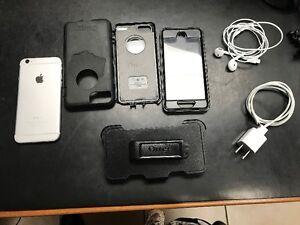 Cellulaire Apple iPhone 6 64go Argent et blanc à 375$ + OtterBox