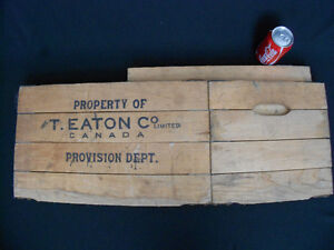Antique Collapsible Eaton Co. Canada Wood Shipping Crate Box
