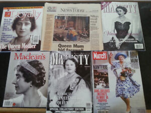 Queen Mother magazine and newspaper article. Collectors edition