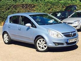 2007 Vauxhall Corsa 1.2i 16v (a/c) Design 5 Door Blue only 54719 Mile FSH SUPERB