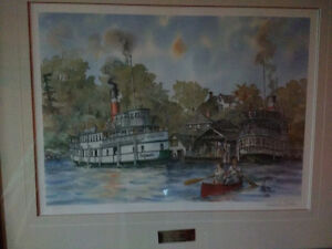 "Wentworth Folkins signed limited edition print ""Beaumaris"""