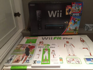 Wii console and wii fitbit board