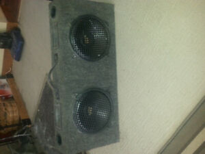Truck Sub Woofers And Cabinet