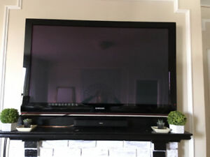 "52"" Samsung Plasma TV and Wall Mount"