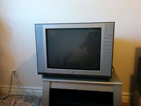 """Free 27"""" Flat View Zenith TV & Very Solid Grey TV Stand"""