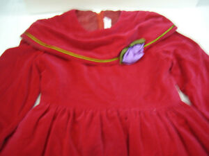 RED CHRISTMAS CHILD'S DRESS