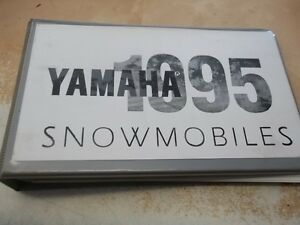 1995 YAMAHA SNOWMOBILE DEALER PHOTO MANUAL Kingston Kingston Area image 1