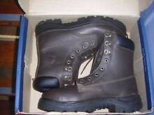 Steel blue size 9 lace up work boots size 9 as new worn for 5 min Geebung Brisbane North East Preview