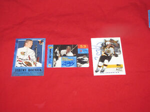 50 hockey insert cards from 1990s -- includes autographs
