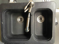 Stone Kitchen Sink with Faucet and accessories
