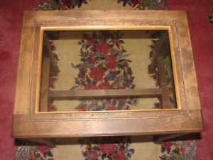 Antique Black Walnut Piano Bench Stool Side Table With Glass Top Kitchener / Waterloo Kitchener Area image 3