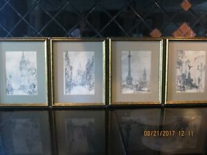 1960's Beautiful and collectable framed drawings By W.J.Maskell
