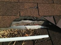 EAVESTROUGH REPAIRS- joint leak,loosen nails,downspout