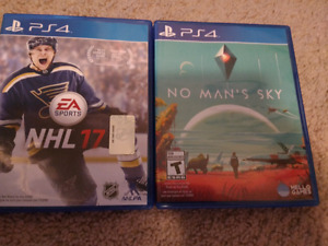 PS4 NHL 17 and NO MAN'S SKY
