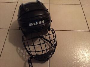 Bauer kids hockey helmet with cage