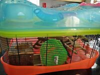 Hamster cage + accessories