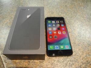 iPhone 8 PLUS 64GB Black Apple Care Warranty until Dec. 2019