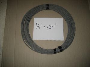 cable d'acier galv. de 1/4'' a .20 cents du pied