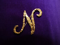 Gold Nugget Letter pin