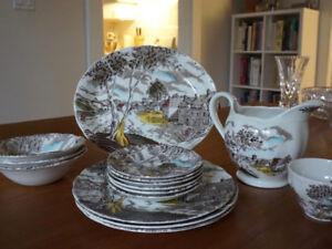 "Vintage China Set ""Sunday Morning"" by W.H. Grindley"