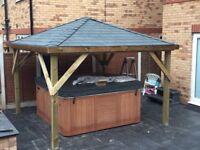 3m x 3m hot tub shelter/ gazebo, tiled roof